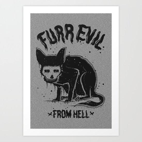 furr evil Art Print