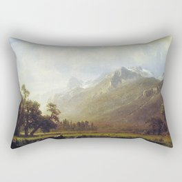 The Sierras Near Lake Tahoe 1865 By Albert Bierstadt | Reproduction Painting Rectangular Pillow