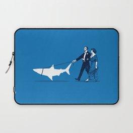 Walking the Shark Laptop Sleeve