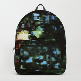 Abstract city geometric digital painting Backpack