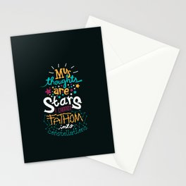 My Thoughts Are Stars Stationery Cards