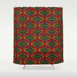 Kawung Tripp Shower Curtain