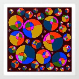 Bubble pink & blue 07 Art Print