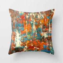 An Oasis In A Desert Abstract Painting Throw Pillow
