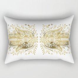 Hamsa Hand – Gold Palette Rectangular Pillow