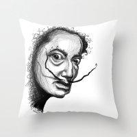 dali Throw Pillows featuring Dali by Robin Ewers