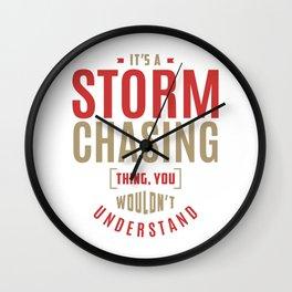 Storm Chasing Thing Wall Clock