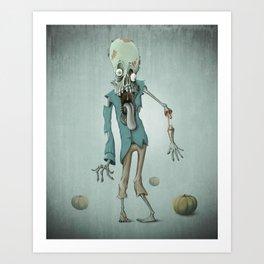 Halloween zombie Art Print