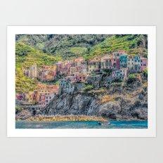 Italy Seaside Architecture Art Print