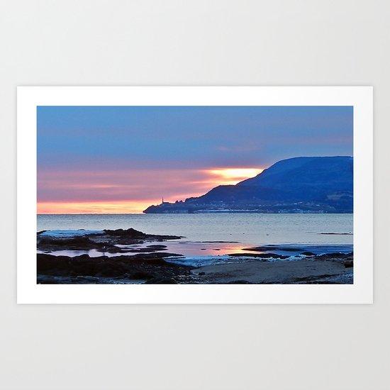 Sunrise in Tourelle Art Print