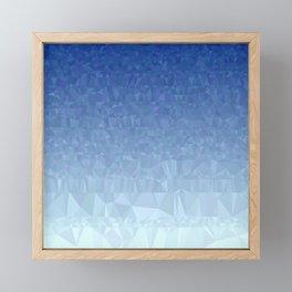Blue Ombre - Flipped Framed Mini Art Print