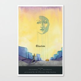 Chinatown Poster Canvas Print
