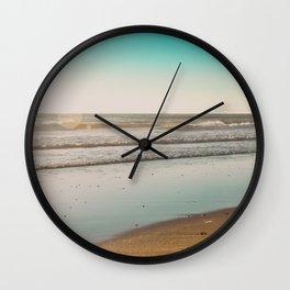Golden Beach Days Wall Clock