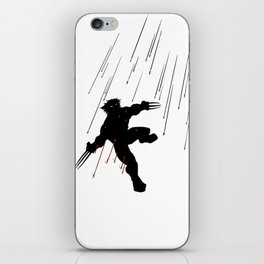 Wolvie in a blaze of glory iPhone Skin