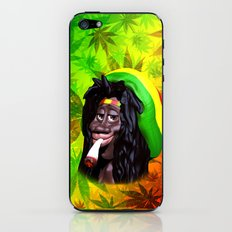 Rastaman Marijuana Caricature 3d iPhone & iPod Skin