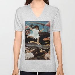 "Henri Rousseau ""War or the Ride of Discord"" Unisex V-Neck"