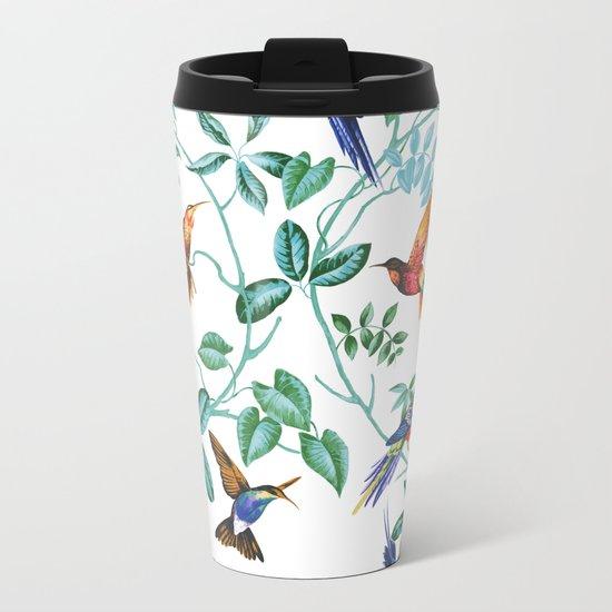 Jungle Birds II Metal Travel Mug