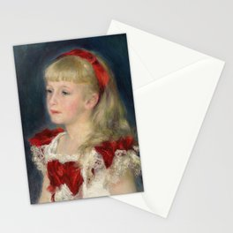 "Auguste Renoir ""Mademoiselle Grimprel au ruban rouge"" Stationery Cards"