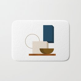 Abstrato 01 // Abstract Geometry Minimalist Illustration Bath Mat