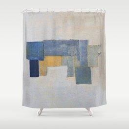 Rustic Rhino Shower Curtain
