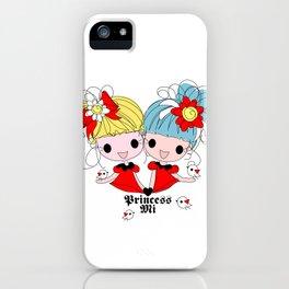 Princessmi illustration Two happy girls iPhone Case