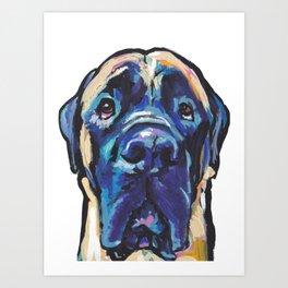 Fun ENGLISH MASTIFF Dog bright colorful Pop Art Painting by LEA Art Print