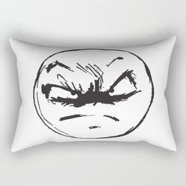 face of weird Rectangular Pillow
