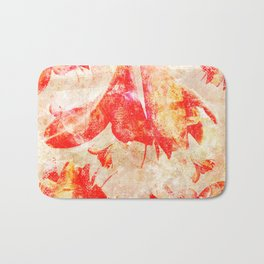 Abstract Amaryllis Bath Mat