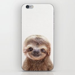 Baby Sloth, Baby Animals Art Print By Synplus iPhone Skin