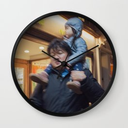 Father Carrying his Girl on his Nick, B Wall Clock