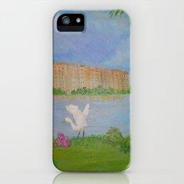 Habitat of Snowy Egret iPhone Case