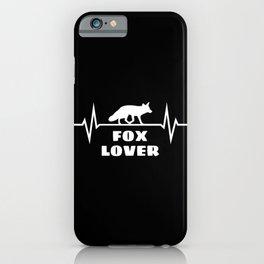 Fox Heartbeat iPhone Case