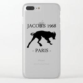 Black Dog Jacob's 1968 fashion Paris Clear iPhone Case