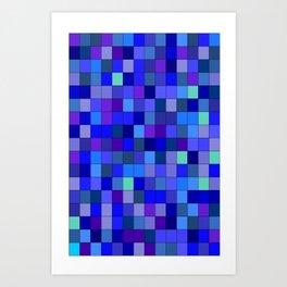BLUE  SQUARE Art Print