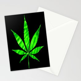 Weed : High Times Vibrant Green Stationery Cards