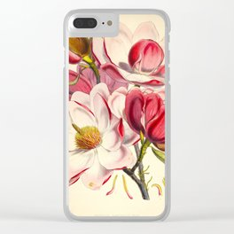 Beautiful Pink Flower Vintage Himalayan Plant Illustration Drawing Clear iPhone Case
