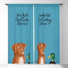 Nova Scotia Duck Trolling Retriever (Blue) Blackout Curtain