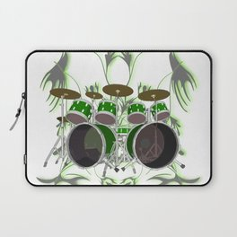 Drum Kit with Tribal Graphics Laptop Sleeve