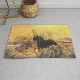 """""""Into The Sunset"""" Rug"""