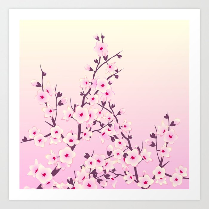 Cherry Blossoms Pink Art Print