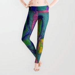 Tie Dye Butterfly Print Leggings