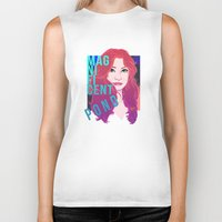 amy pond Biker Tanks featuring Magnificent Pond by Franc-eh