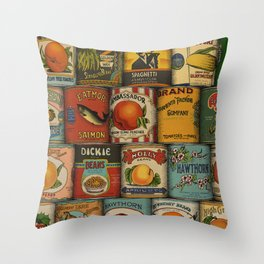 Canned in the USA Throw Pillow