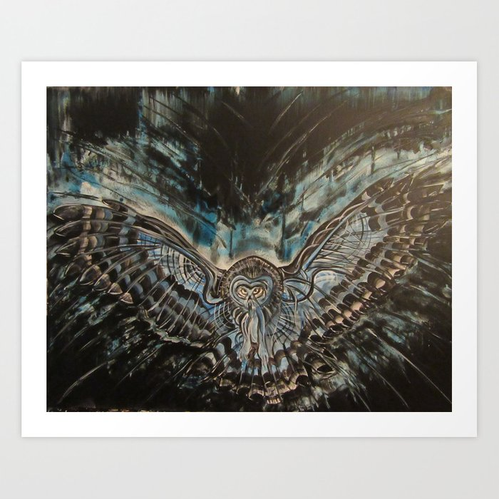 Shadow Owl - Bringer of Night Art Print