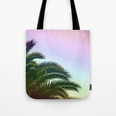 Palm Leaves  - Tropical Sky - Chilling Time Tote Bag