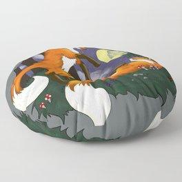 Playful Foxes Floor Pillow