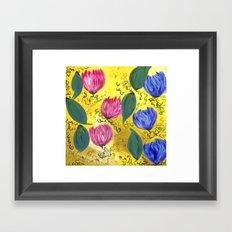 Country Flowers Framed Art Print