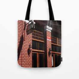 Red Brick Wall... Tote Bag
