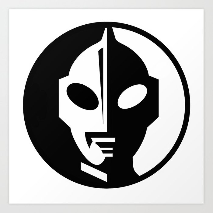 Ultraman Logo Art Print By Isthistomorrow Society6