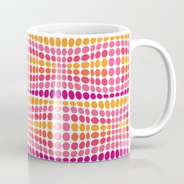 Dottywave - Pink Orange wave dots pattern Coffee Mug